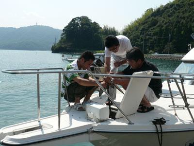 2008年9月10日(水)野郎3名はアンカーの修理に何時までかかっているの!
