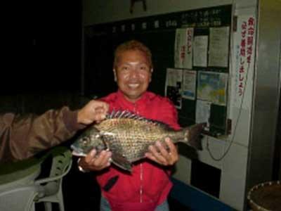 2008年11月3日(月)マリーナより出船されクロダイの46cmを釣られました