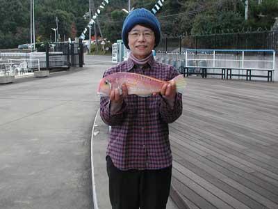 2008年12月10日(水)マリーナより出船されアマダイの42cmを釣られました