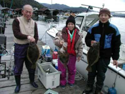 2009年1月7日(水)ヒラメの53cmとマトウダイの50cmを釣られました