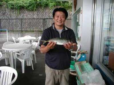 2009年6月21日(日)アジの34.5cmを釣られました