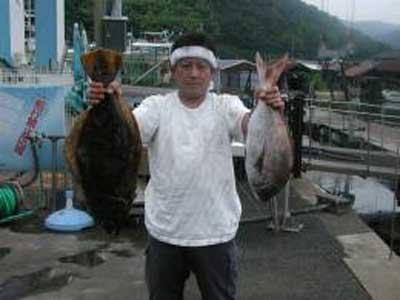 2009年6月28日(日)ヒラメの70cmを釣られました