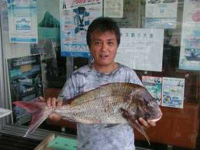 2009年7月5日(日)マダイの63cmを釣られました