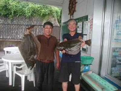 2009年8月10日(月)ヒラメの70cmを釣られました