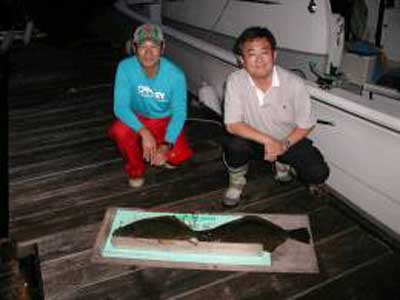 2009年9月22日(火)ヒラメの62cmを釣られました