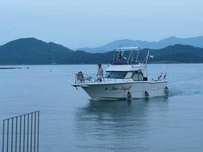 2009年9月24日(木)スターシップがアオイマリーナに帰港です