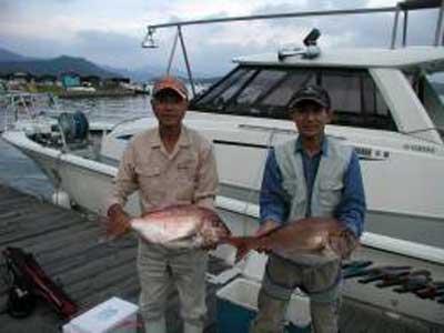 2009年9月25日(金)鯛の64cmを釣られました
