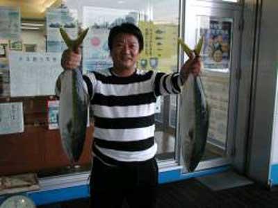 2009年10月4日(日)ハマチの61cmを釣られました