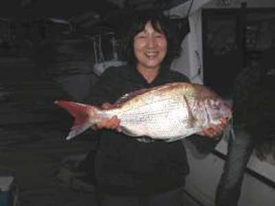 2009年11月8日(日)鯛の60cmを釣られました