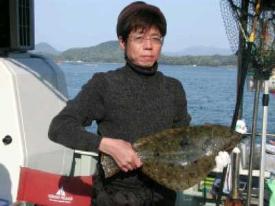 2010年5月1日(土)ヒラメを釣られました