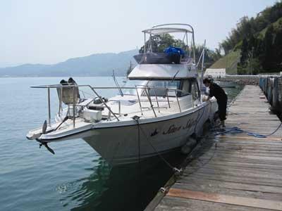 2010年5月5日(水)数ケ月分の汚れを掃除してからの出船となりました