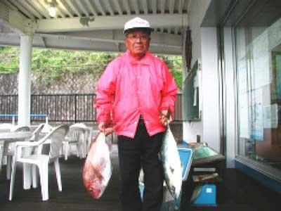 2010年5月20日(木)鯛やハマチを釣られました