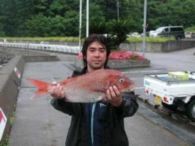 2010年6月20日(日)鯛の61cmを釣られました