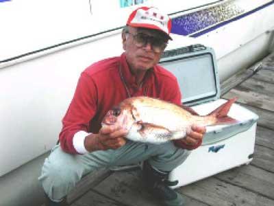 2010年6月20日(日)鯛の45cmを釣られました
