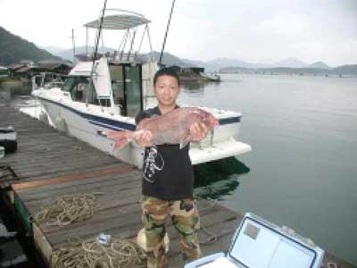 2010年6月27日(日)鯛の60cmを釣られました