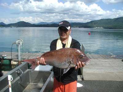 2010年7月19日(月)若狭湾で鯛の70cmを釣られました