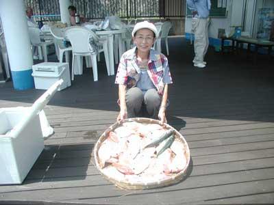 2010年8月3日(火)若狭湾で鰺やアマダイを釣られました