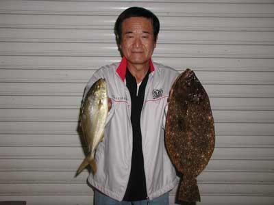 2010年9月26日(日)若狭湾でヒラメの53cmを釣られました