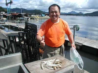 2010年9月28日(火曜日)若狭湾でキスの22cmを釣られました