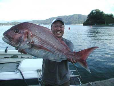 2010年10月12日(火)若狭湾で鯛の81cmを釣られました