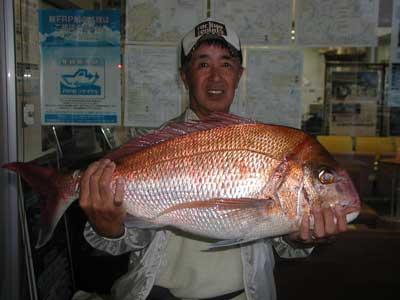 2010年10月23日(土曜日)若狭湾で鯛の78cmを釣られました