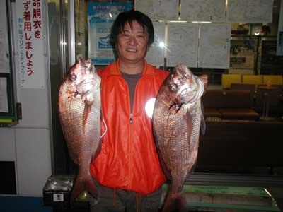 2010年10月23日(土曜日)若狭湾で鯛の69cmを釣られました