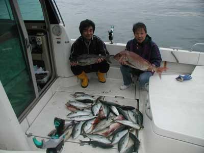 2010年10月24日(日曜日)若狭湾で鯛の75cmを釣られました