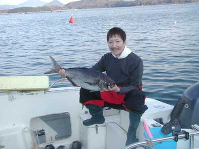 2010年12月2日(木)若狭湾でメダイの75cmを釣られました