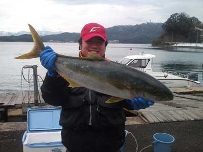 2011年1月22日(土)若狭湾でヒラマサの83cmを釣られました