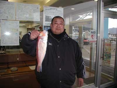 2011年2月8日(火)若狭湾でアマダイの44cmを釣られました