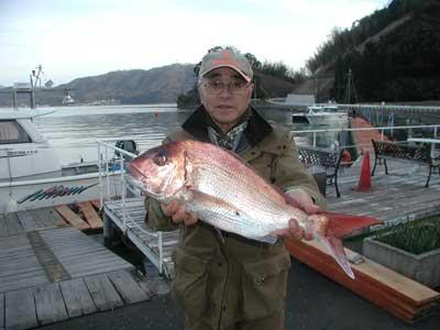 2011年2月19日(土)若狭湾で鯛の58cmを釣られました