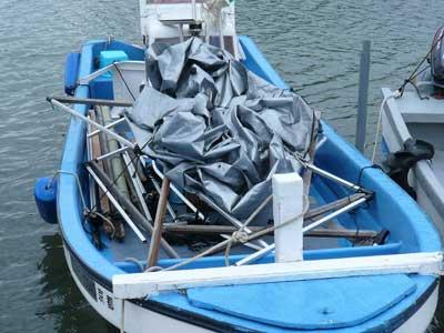 2009年2月1日(日)テントはバラバラのまま船に積み込んで帰港しました
