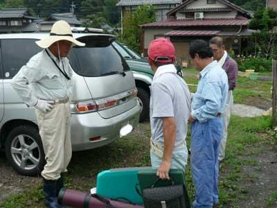 2008年8月2日(土)舞鶴は吉田の筏でチヌを釣り上げた方