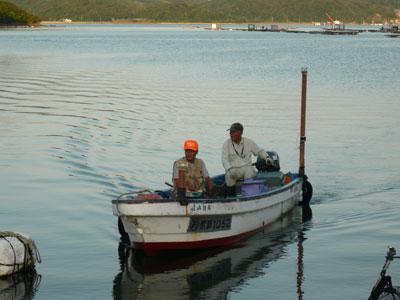 2008年9月9日(火)舞鶴は吉田の筏より夕刻に帰港です