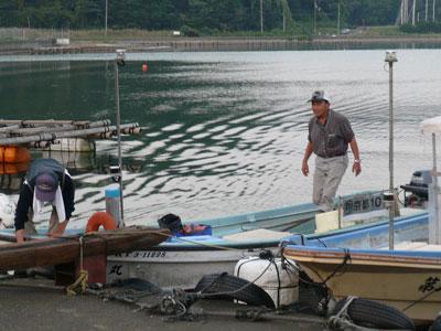2008年9月10日(水)舞鶴は吉田の筏より夕刻に帰港です