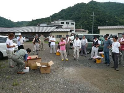 2008年9月13日(土)舞鶴は吉田で関西チヌクラブの皆さん左風景