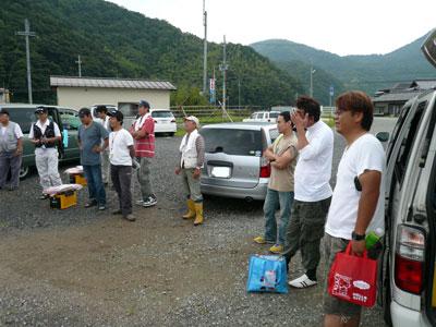 2008年9月13日(土)舞鶴は吉田で関西チヌクラブの皆さん右風景