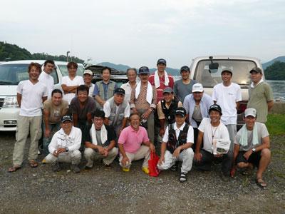 2008年9月13日(土)舞鶴は吉田で関西チヌクラブの記念写真