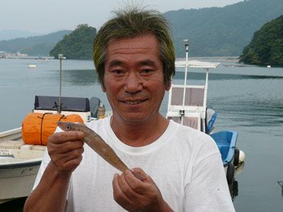 2008年9月13日(土)舞鶴は吉田の弁天島でキスを釣られた小島様です