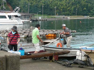 2008年9月13日(土)舞鶴は吉田の筏より夕刻に帰港です