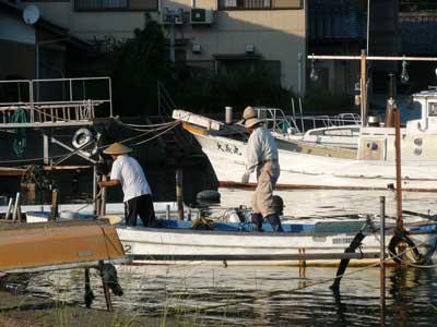 2008年9月20日(土)舞鶴は吉田の筏より夕刻に帰港です