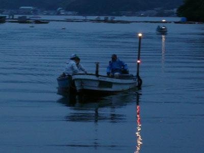 2008年9月28日(日)舞鶴は吉田の筏より夕刻に帰港です