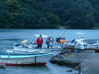 2008年10月11日(土)舞鶴は吉田の筏より夕刻に帰港です