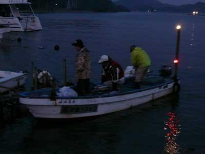 2008年10月18日(月)嵯峨根船頭さんのお客さんが夕刻に帰って来られました