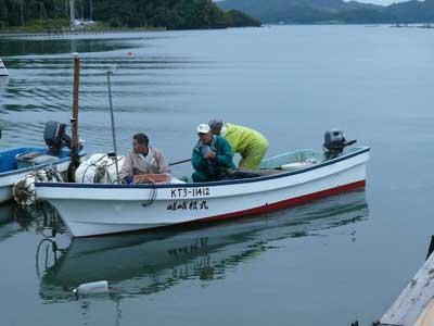 2008年10月26日(日)舞鶴は吉田の筏より帰港です