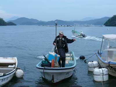 2008年11月2日(日)舞鶴は吉田の筏より夕刻に帰港です