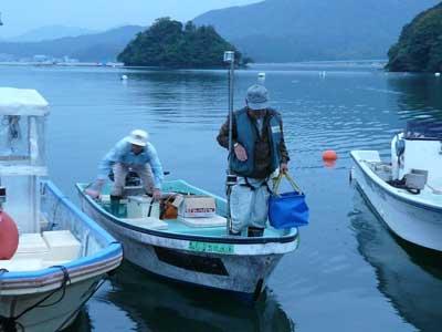 2008年11月3日(月)舞鶴は吉田の筏より夕刻に帰港です
