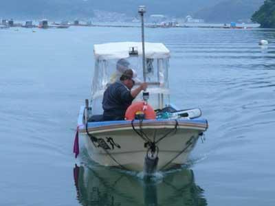 2008年11月3日(月)舞鶴は吉田の筏より夕刻に続けて帰港です
