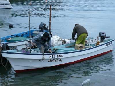 2008年11月9日(日)舞鶴は吉田の筏より明るい内に帰港です