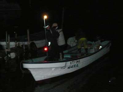 2008年11月9日(日)舞鶴は吉田の筏より夕刻に帰港です
